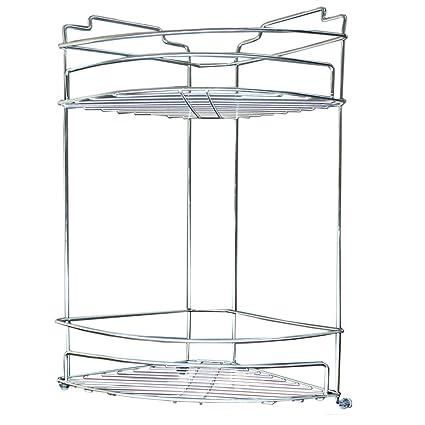 Amazon.com: VIAV Bathroom Shelf 304 Stainless Steel 2-Tier Shower ...