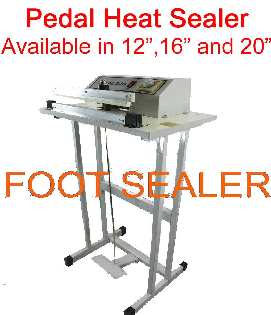 Easyway 20'' Pedal Style Foot Sealer, Stands Included