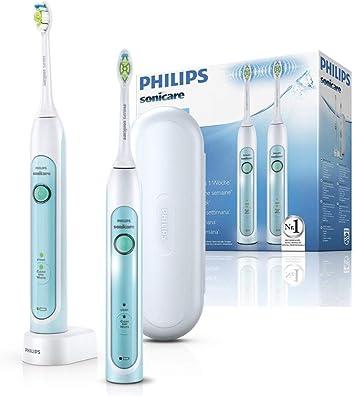 Philips Sonicare HealthyWhite Elektrische Zahnbürste mit Schalltechnologie HX673237, weißgrün, Doppelpack