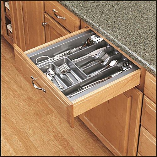Rev-A-Shelf - GCT-3S-52 - Large Glossy Silver Cutlery Tray Drawer Insert by Rev-A-Shelf