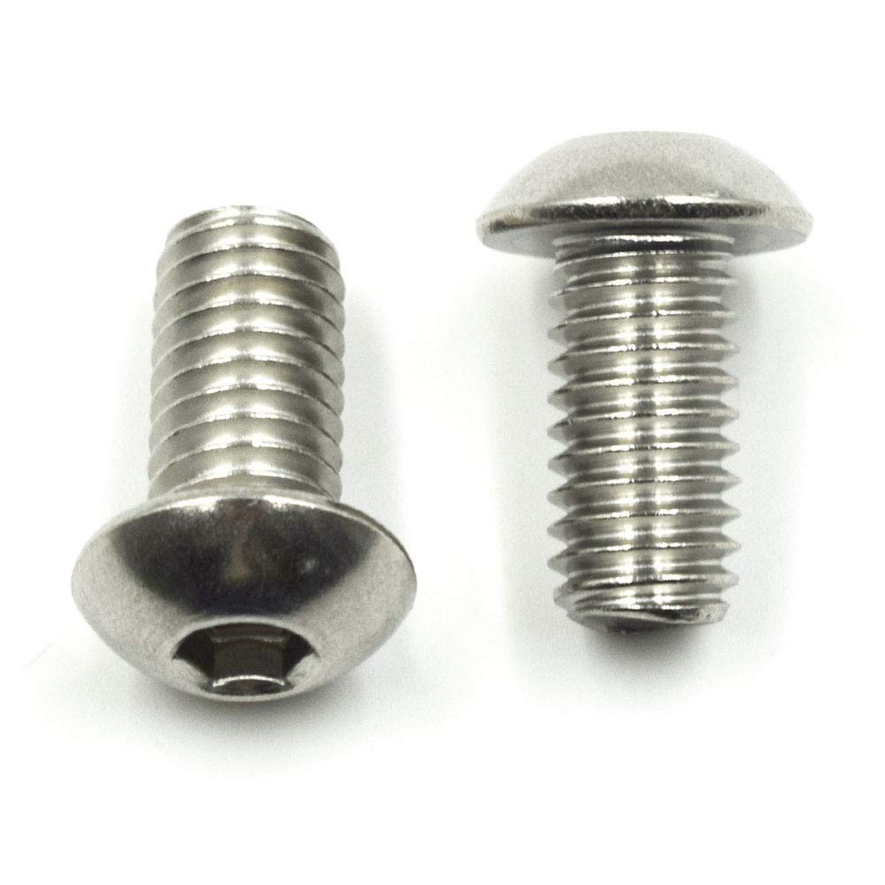 TOUHIA 3//8-16 x 3//4 Button Head Socket Cap Screws 18-8 Stainless Steel,Allen Hex Drive By Fastenere 10Pcs