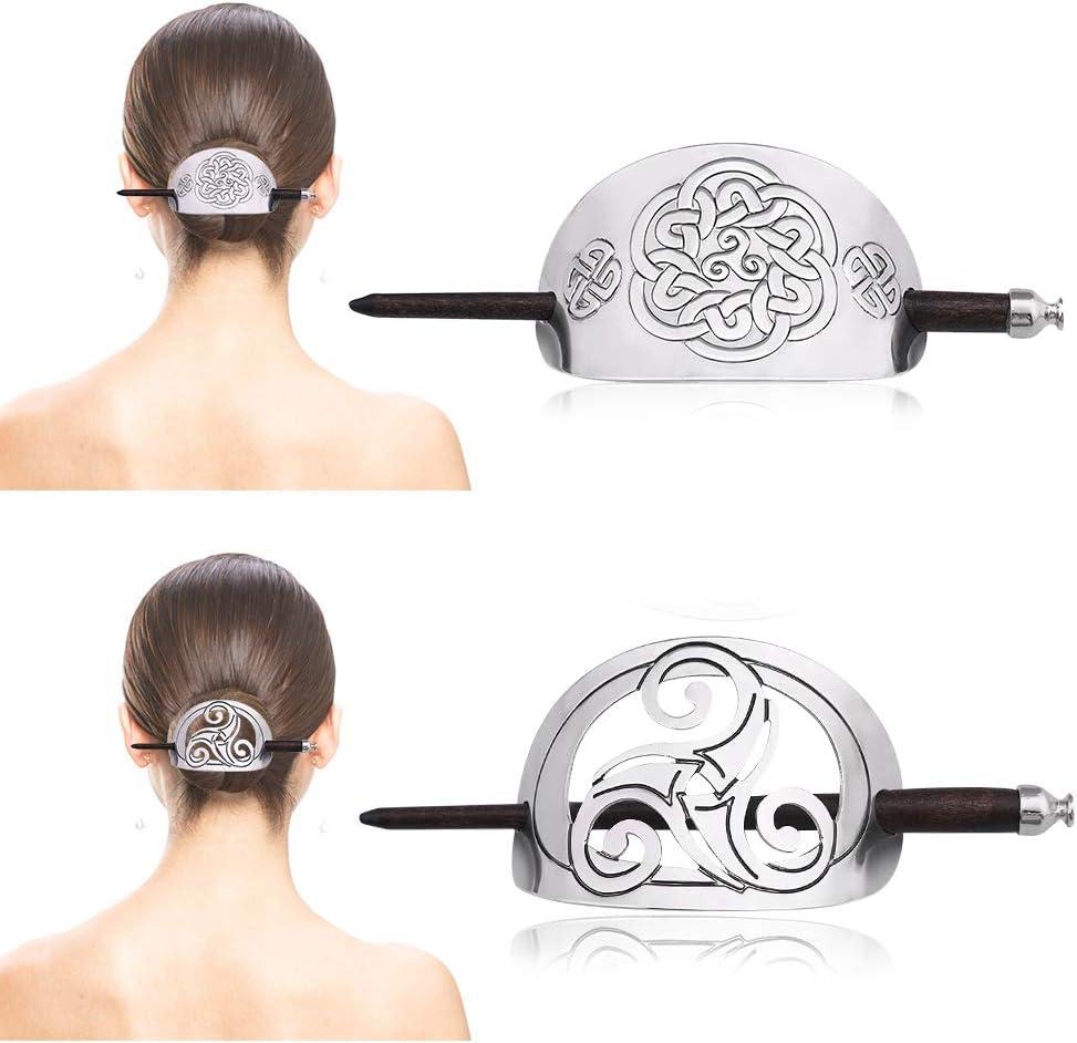 5pcs noeud celtique pince à cheveux bâton de cheveux viking pour cheveux longs