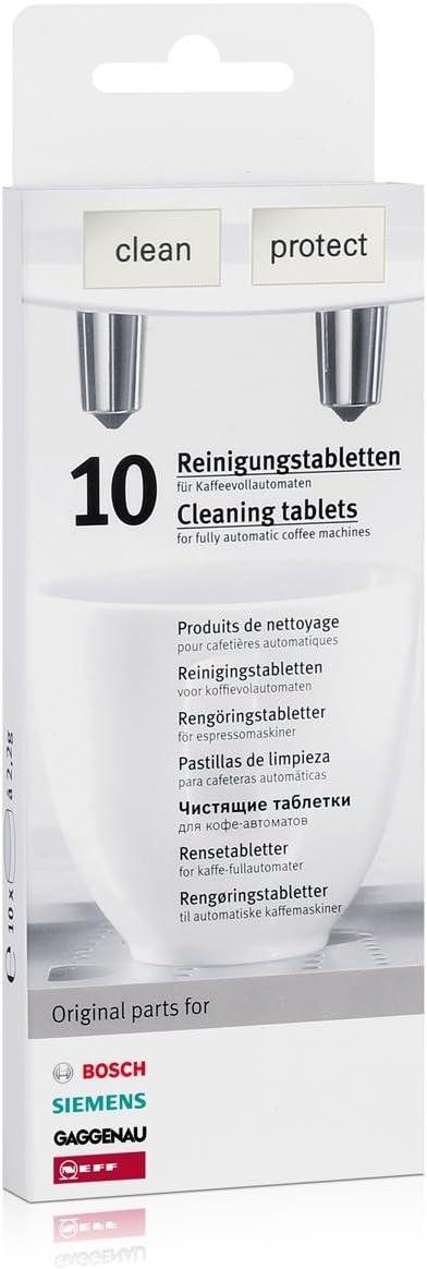 1 x 10 Bosch Siemens pastillas de limpieza (00311769) + 1 x 3 ...