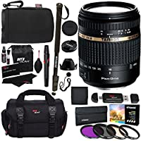 Tamron 18-270mm f/3.5-6.3 Di II VC PZD All In One Auto Focus Zoom Lens for Sony DSLR Cameras BOO8S + Polaroid 72 Monopod + Polaroid Filter Kit + Ritz Gear Bag, Case, Cleaning Kit & Accessory Bundle