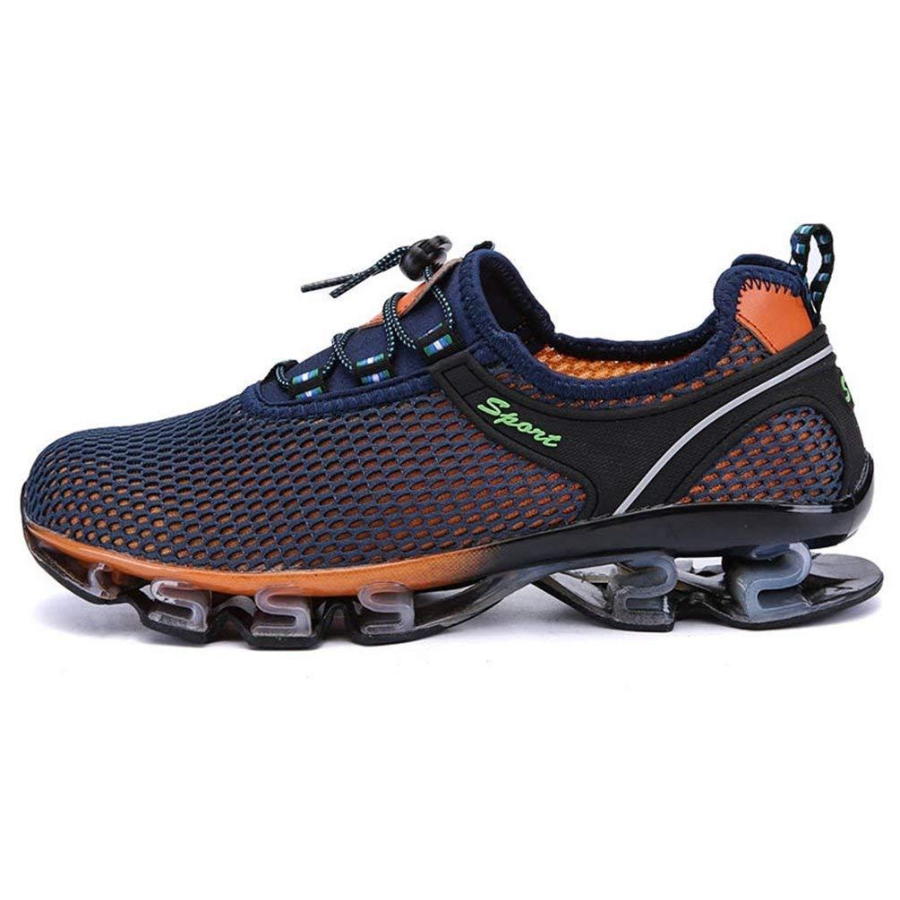 ZHRUI Mens Turnschuhe Sommer Atmungsaktive Atmungsaktive Atmungsaktive Weiches Licht Männliche Mesh Schuhe für Männer Erwachsene Turnschuhe Gehen Lässig Bequeme Schuhe (Farbe   Dunkelblau, Größe   9=43 EU) 7d926d