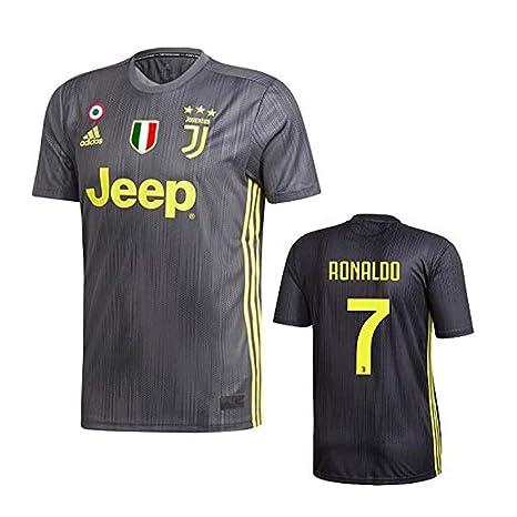 fa85f1beafb3a Juventus Maglia Ronaldo Nera Trasferta 2018-19 Adidas Adulto e Bambino (7-8