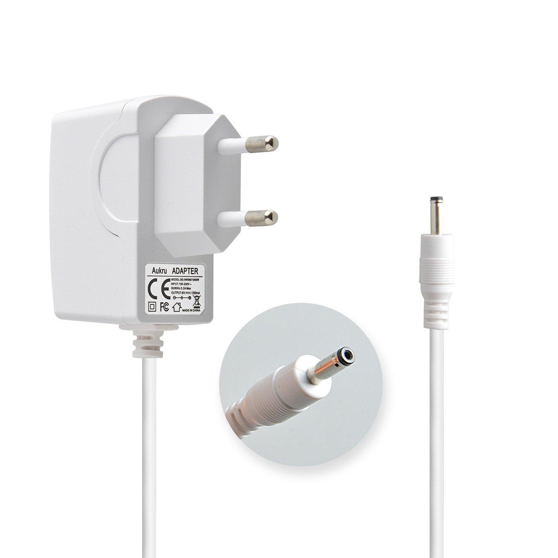 Aukru Chargeur Secteur 6V Adaptateur pour Philips Avent Babyphone SCD505/00 Ecoute-Bébé DECT EU-6V1A-SCD506BP