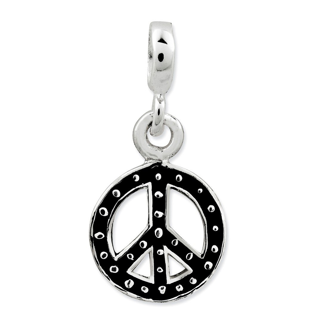 ICE CARATS 925 Sterling Silver Enameled Peace Symbol Enhancer Necklace Pendant Charm Fine Jewelry Ideal Gifts For Women Gift Set From Heart