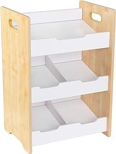 KidKraft Storage Bin, Natural/White