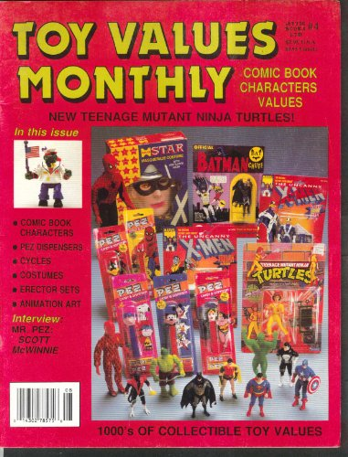 TOY VALUES MONTHLY Scott McWinnie Comic Characters Erector Animation Art 9 1991