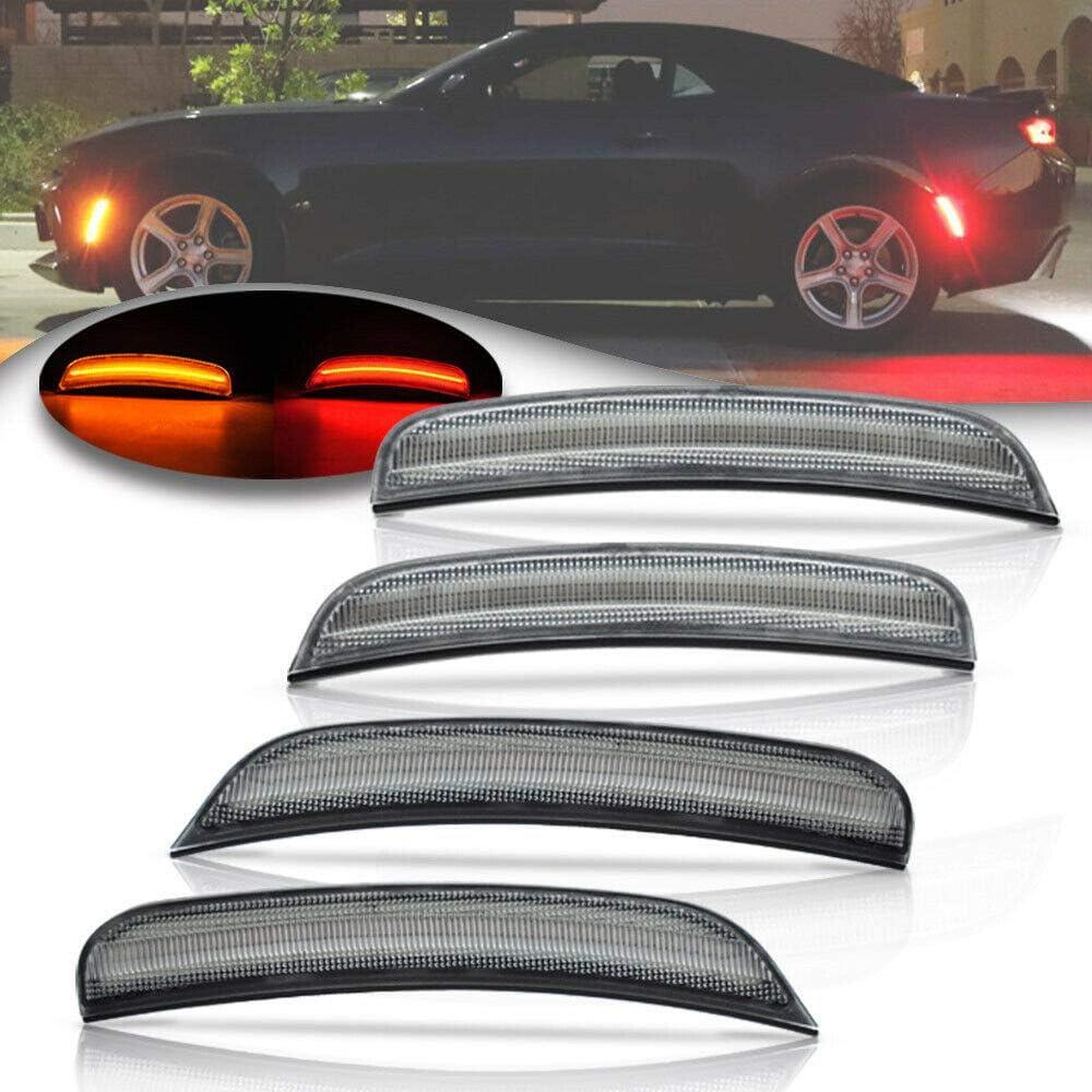 Amber Red LED Side Marker Light for 2015 2016 2017 2018 Chrysler 300 Clear Lens Led Side Marker Lights Front /& Rear Sit Car Led Side Marker Lamp Kit