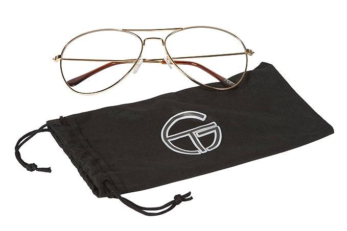 56ae912382 Gravity Shades Clear Lens Aviator Sunglasses