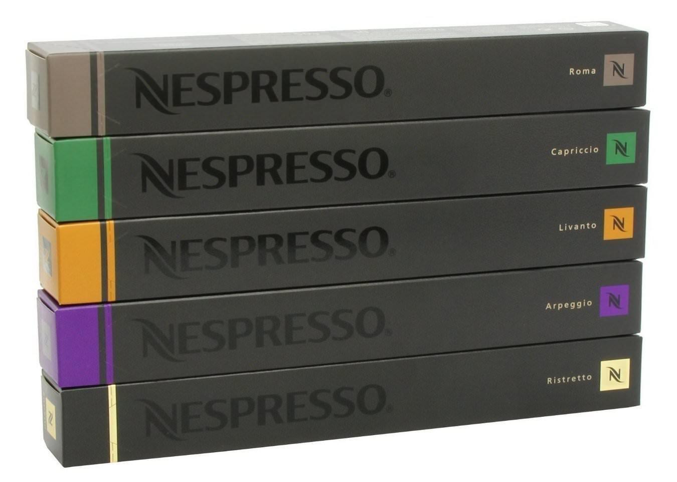 Nestle Nespresso Variety Pack for OriginalLine, 50 Capsules