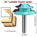 Wood Cutter Tools 45 Degree Lock Miter Router Bit