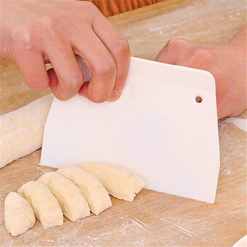 NAYUKY Escalera en Forma de Pasta de Aceite Raspadores Hojas PP Cortadores Blancos Herramientas para Hornear Utensilios de Cocina Utensilios de Cocina