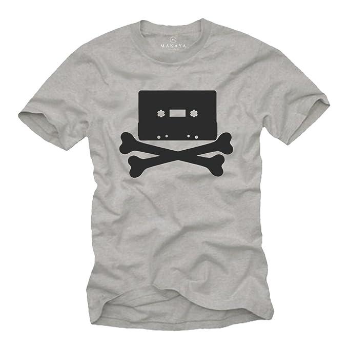Camiseta Rock Hombre - Vintagae Cassette 80s Retro - Muscia Hip Hop Skull: Amazon.es: Ropa y accesorios