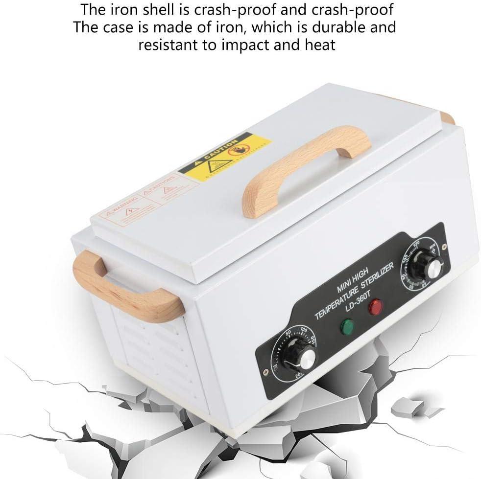 Esterilizador Est/ético Profesional EU Herramienta de Limpieza del Esterilizador para Manicura Esterilizador de 200 ℃ Herramientas para Arte de U/ñas Gabinete de Desinfecci/ón de Alta Temperatura