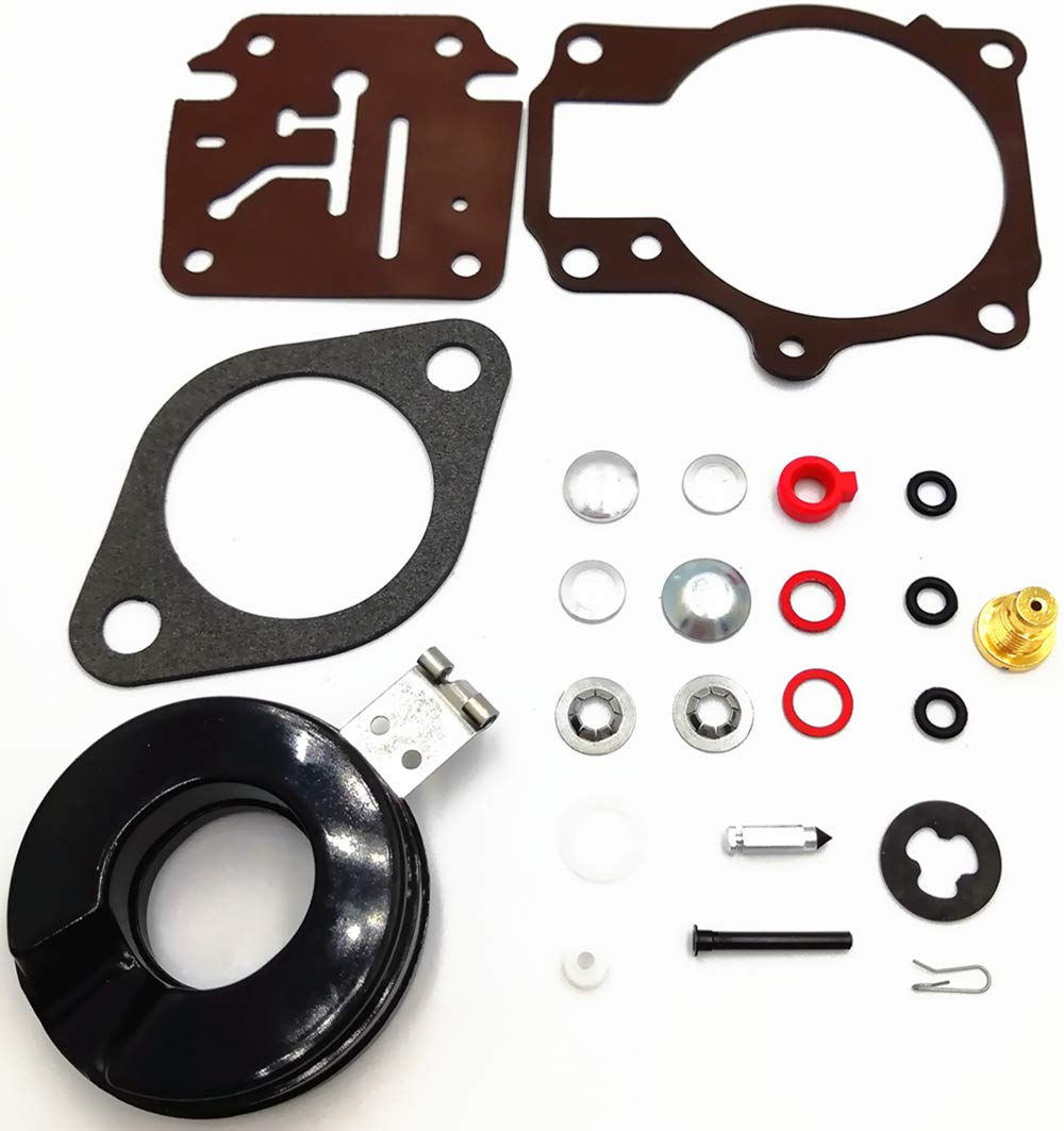 1Pack Carburetor Rebuild Kit with Float for Johnson Evinrude 396701 392061 398729 18 20 25 28 30 35 40 45 48 50 55 60 65 70 75 HP Outboard Motors Replaces Sierra 18-7222 18-7042 Mallory 9-37107