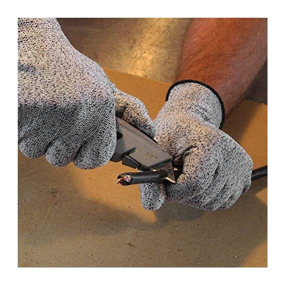 Venja New Kitchen Gloves Cooking Cut Resistant Gloves with Level 5 Protection Kitchen Glove Cutting Stand, Food Contact Safe Work Gloves 7