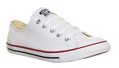 149576b527cd92 Converse Plimsolls 537204 Womens Dainty Canvas Trainers - White ...