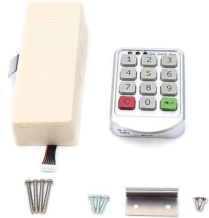 Yosoo Código de Seguridad Candado Digital Electrónica Contraseña Teclado Número Armario Puerta Código candados para cajón Armario Puerta