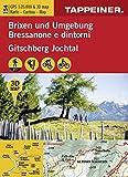 3D-Wanderkarte Brixen und UMgebung: Carta ecursionistica 3D - Bressanone e dintorni (Kombinierte Sommer-Wanderkarten Südtirol)