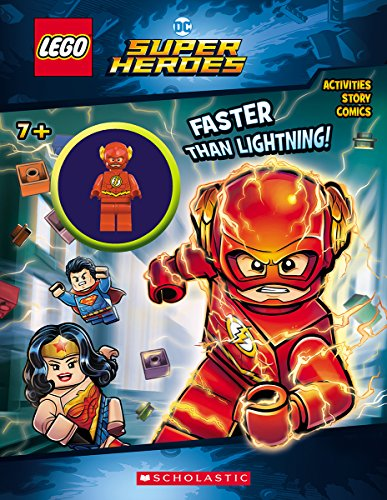 Faster than Lightning! (LEGO DC Comics Super Heroes: Activity Book with Minifigure) (LEGO DC Super Heroes) (Lego Minifigure Super)