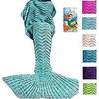 DDMY Mermaid Tail Blanket For Kids Teens Adult Handmade...