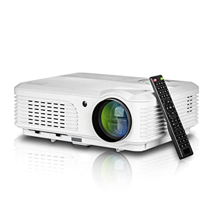 HD LED 3600 Lumens Portable Projector Home Theater Gaming System 200 Inch  Outdoor 1080P USB HDMI RCA VGA Speakers Zoom Keystone Remote for iPhone