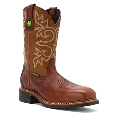 John Deere Men's Waterproof ... Steel-Toe Western Work Boots shDBy1N