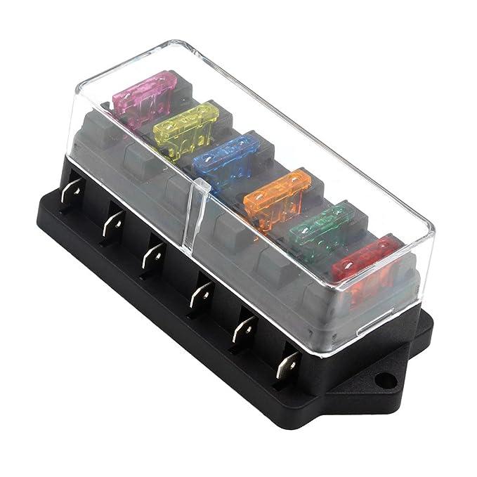amazon com ninth city 6 way car auto standard blade fuse box holder rh amazon com ATC Fuse Holder ATC Fuse Holder