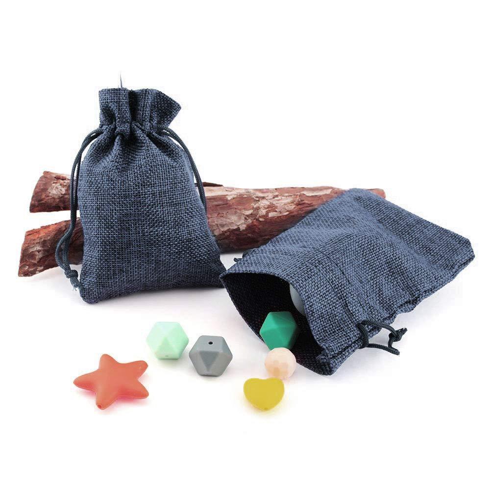 Bolsas de Regalo 50 bolsitas Saco de Yute 9,5 cm x 13,5 cm Saco carb/ón Saco Navidad bolsitas de Tela Bolsas Yute para Joyas bolsitas Regalos Bolsas de arpillera con cord/ón Ruby Lila