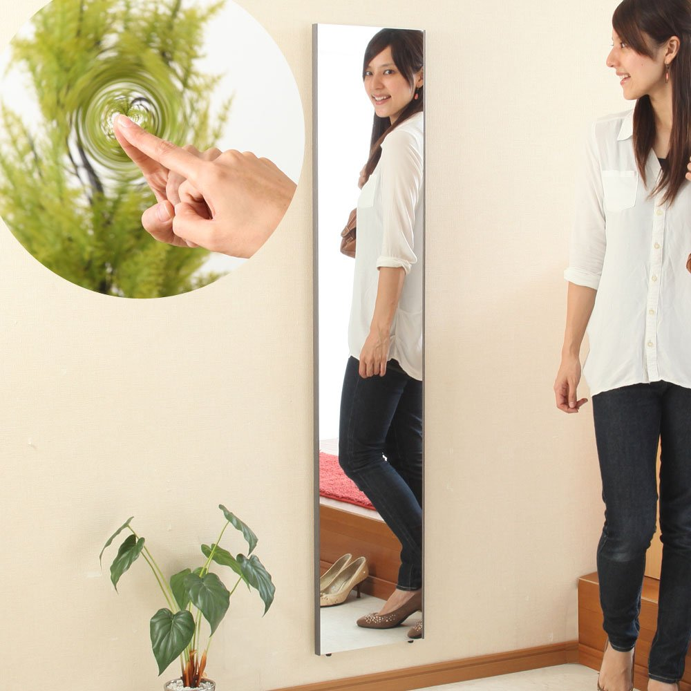 【30cm幅】 鏡 スタンドミラー 全身 壁掛け ミラー 姿見 割れない 日本製 〔細枠〕シャンパンゴールド〔B〕 B01CQEDRE8 シャンパンゴールド〔B〕 シャンパンゴールド〔B〕