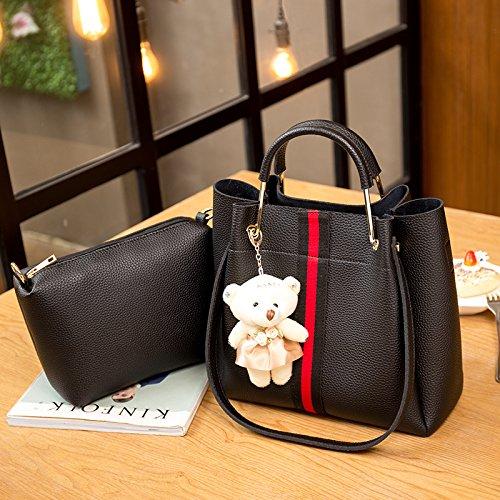 Kvnhty Black amp;nc Suits Shoulder Women's Leather Handbags Messenger Bags ZvqZCwr