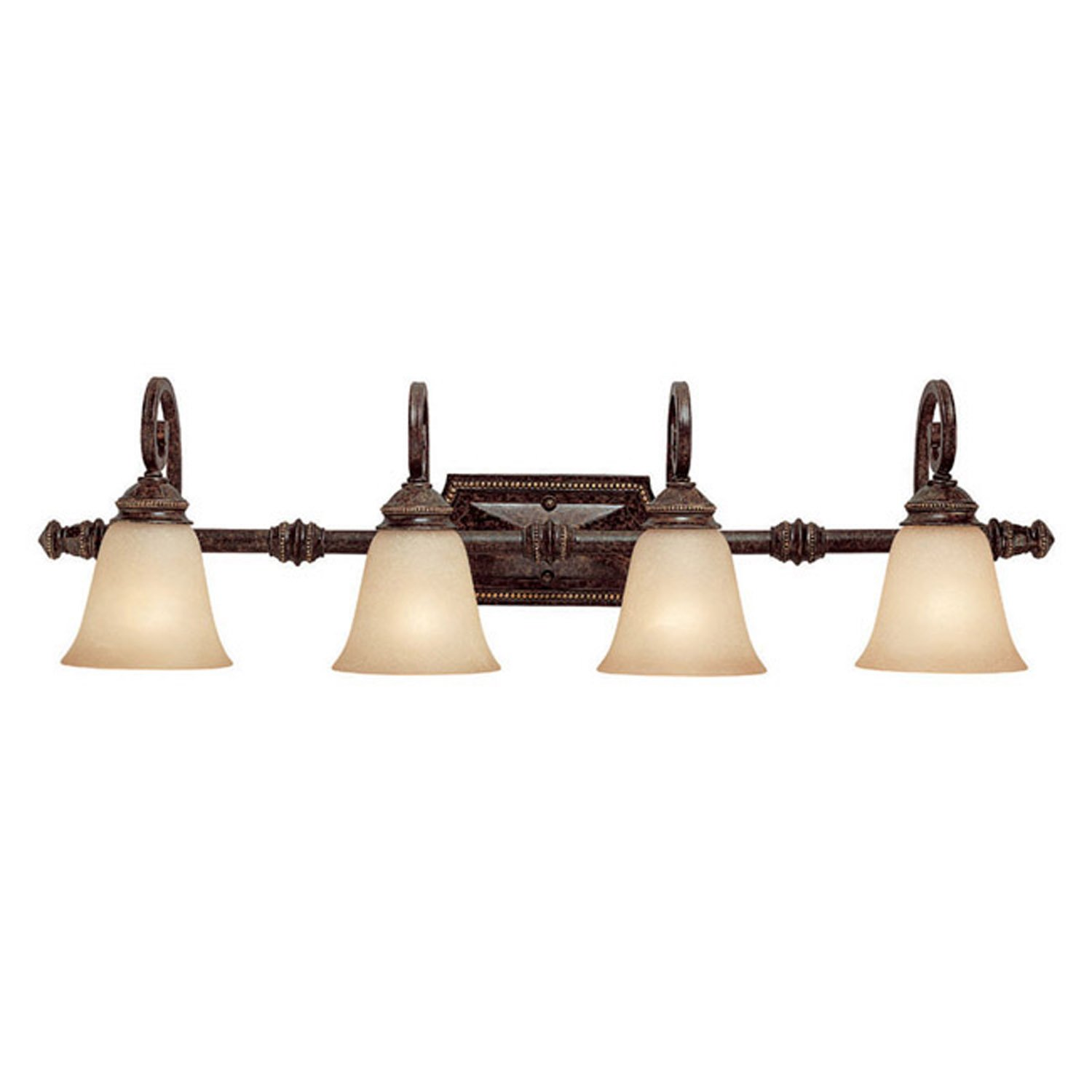 Capital Lighting 1524CB-287 Vanity with Mist Scavo Glass Shades, Chesterfield Brown Finish