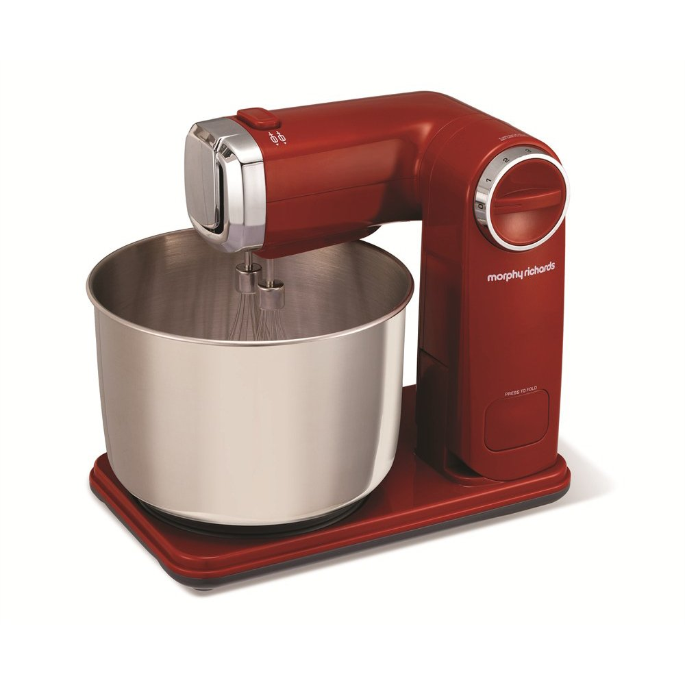 Morphy Richards 48993 Folding Stand Mixer - Red Morphy Richards Ltd