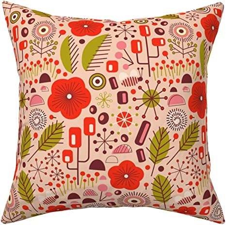 Midcentury Modern Art Mid Throw Pillow Cover w Optional Insert by Roostery