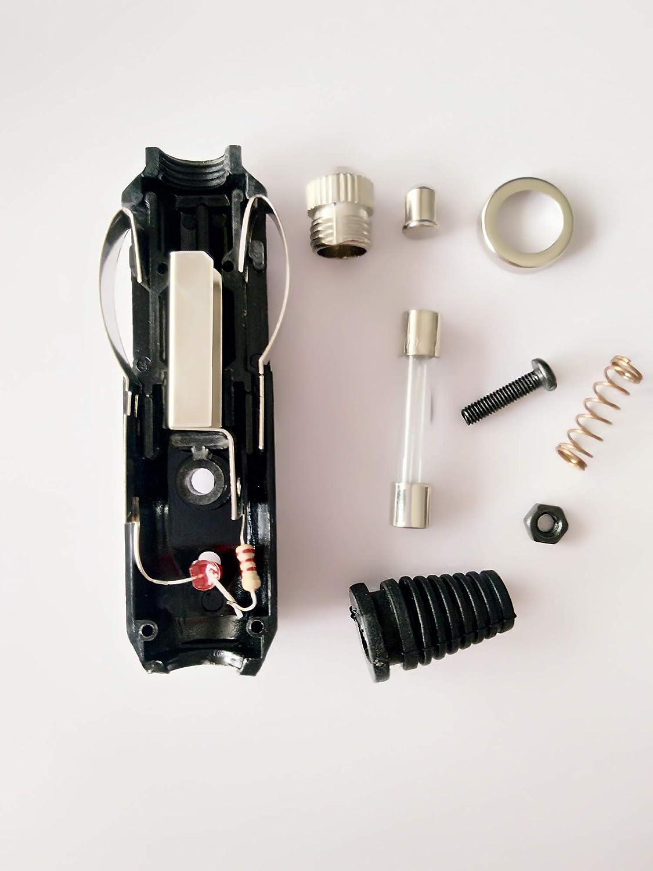 con indicatore diodo fusibile presa maschio 12 V Presa accendisigari in bachelite ad alta potenza caricabatterie per sigari 20 Amp 24 V