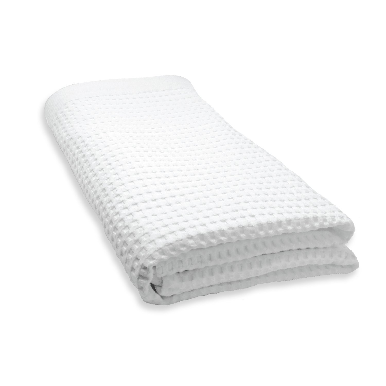 Gilden Tree 100% Natural Cotton Lattice Waffle Weave Bath Sheet (White) MD 555-W