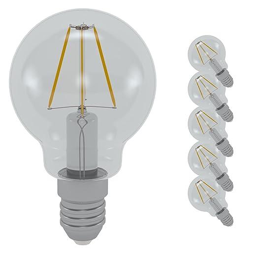 LM® 4W LED bombilla de filamento Golf , blanco cálido 3000K 600LM , E14 ,