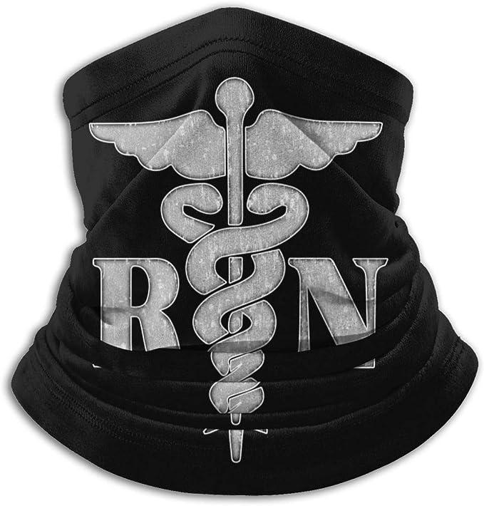 BLACK and PINK COTTON Stretch Knit Tube Bandana Womens Gaiter Chemo Biker Nurse