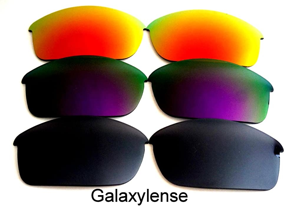 a777acea87 Amazon.com  Galaxy Replacement Lenses for Oakley Flak Jacket  Black Purple Red Color 3 Pairs
