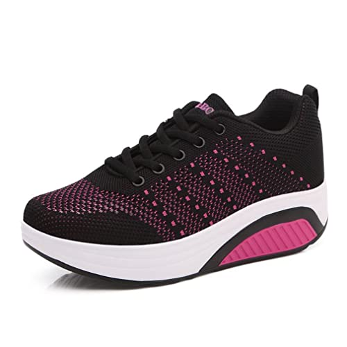 Laufschuhe Fitness Schuhe Aufzug Hohl Atmungsaktiv Sneakers Freizeitschuhe Damen Bequeme Sohle Trainers Dicke gvyY6bf7