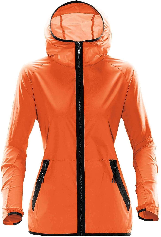 orange Stormtech Women's Ozone Hooded Shell  TMX1W