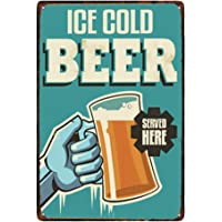 Doitsa 1x Tin Sign Ice Cold Beer Vintage