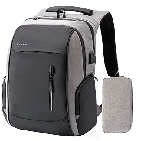 01106a70f54e Laptop Backpack 17.3 Inch - Large Capacity Waterproof Anti Theft College  School Backpack with USB Charging Port, Secret Lock Adapt to Travel,  Business ...