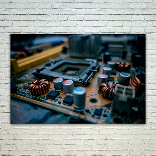 Westlake Art Poster Print Wall Art - Motherboard Electronics - Modern Picture Photography Home Decor Office Birthday Gift - Unframed - - Motherboard Based Laptop