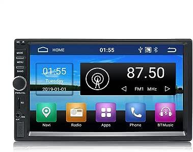 KKXXX KX011 Android 8.1 Car Stereo Navegación GPS Quad Core Auto Radio AM FM RDS 2 Din Pantalla Táctil de 7 Pulgadas 1024 * 600 BT Control del volante 1GB RAM 16GB