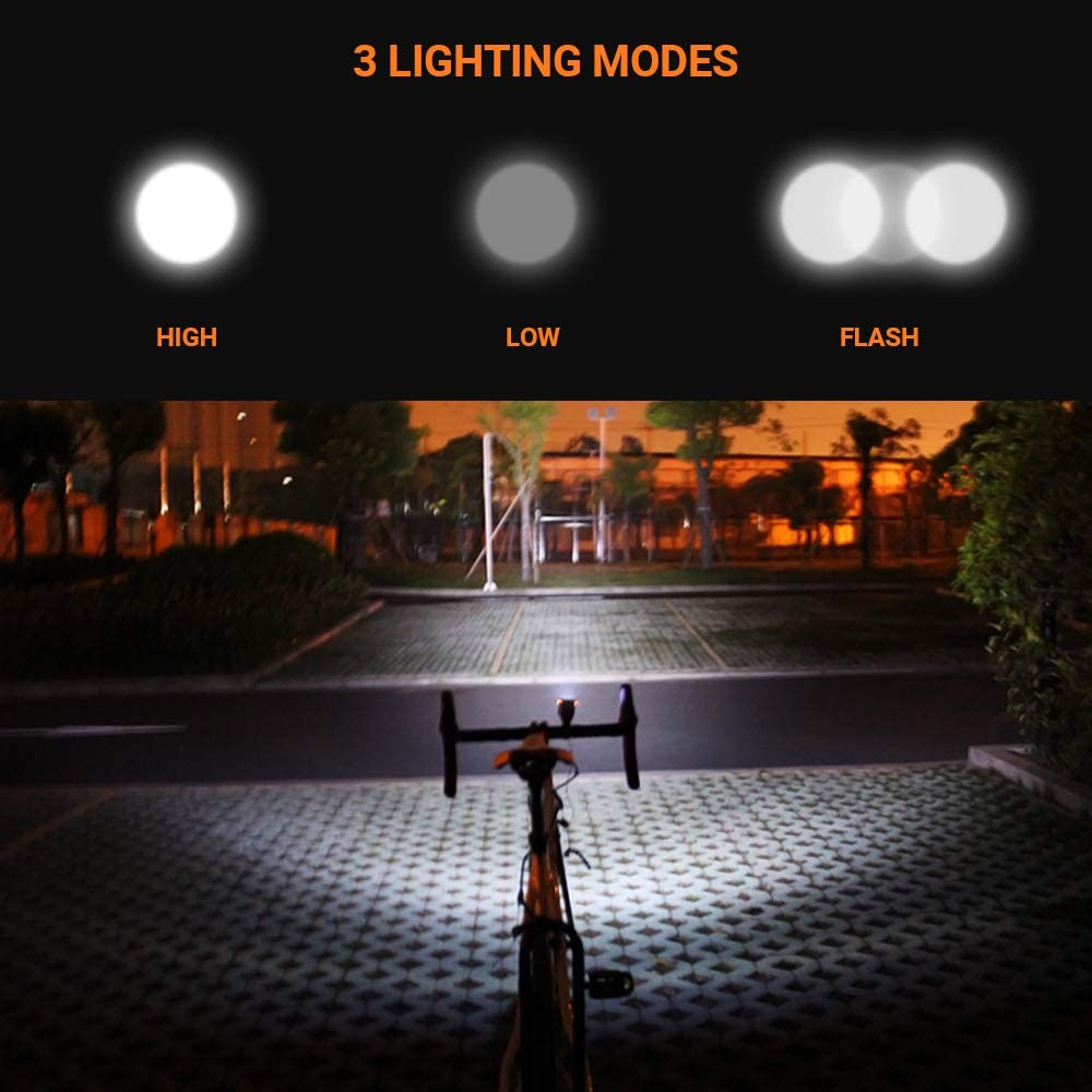 5 Sounds Fits Mountain Road Bike CS Force Bike Light Set Bicycle Front Light USB Rechargeable Waterproof Cycling Headlight with Loud Sound Siren /& 3 Lighting Modes