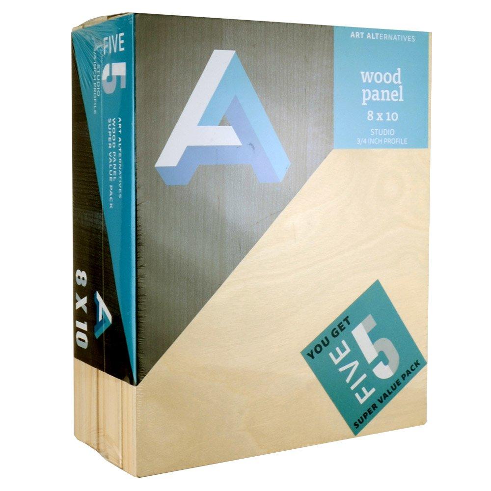 Art Alternatives Wood Panel Super Value 8x10 Pack of 5